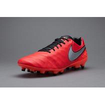 Taco Nike Tiempo Mistick Rojo Piel 2016