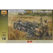 Tanque Zvezda Soldados Rusos Moto Mortero / No Tamiya Revell
