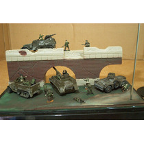 Lee Anun Lot Diorama & 4 Vehiculo Us C 15 Fig 1/72 Sin Avion