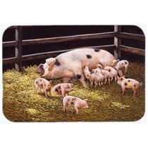 Cerdos Lechones En La Cena Tiempo De Cocina O Baño Mat 20x3