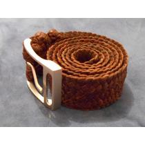 Cinturon De Piel De Cabra Trenzada