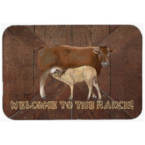Bienvenido Al Rancho De La Vaca Y Del Bebé Cocina O Baño M