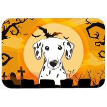 Dalmatian De Halloween De Cocina O Baño Mat 20x30 Bb1768cmt