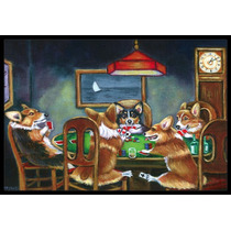 Corgi Jugar Poker Mat Interiores O Exteriores De 18x27 7416m