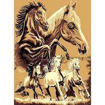 Tapete Minimalista African Adventure Horse Family