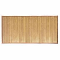 Tapete Bamboo Natural Yoga Baño Sala Entrada 120 Cm X 60 Cm