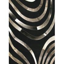 Tapete Decorativo Carreteras Negro Fabricado En Piel De Vaca