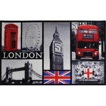 Tapete Decorativo Londres Cabina Telefónica Antideslizante
