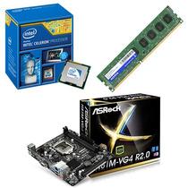 Kit Intel Dual Core G1820 2.7 + Asrock H81m-vg4 + 4 Gb Ddr3