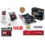 Kit De Actualizacion Gamer A8/a10 Radeon R7 8gb Hdmi Usb3.0