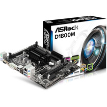 Tarjeta Madre Asrock D1800m Intel Dual Core J1800 Integrado.