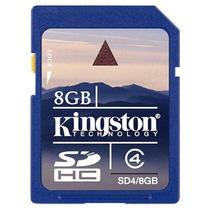 Memoria Sd 8 Gb Clase 4 Sdhc Flash Kingston