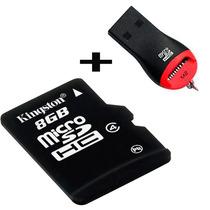Memoria Micro Sd 8gb+adaptador Usb Gratis Celulares Camaras