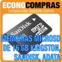 Memorias Micro Sd De 16gb Kingston, Sandisk, Adata 100%nuevo