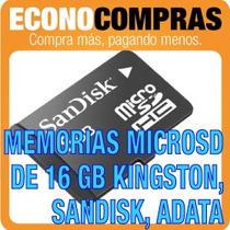 Memorias Micro Sd De 16gb Kingston, Sandisk, Adata 100%nuevo