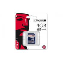 Tarjeta Sd Hc Memoria 4gb Clase 4 Kingston Camaras Digitales