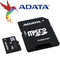 Adata 8gb Micro Sd Hc Card C/ Adapter Class4 Ausdh8gcl4-ra1