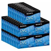 Paq.50 Video Cassette Digital Sony Mini Dv 60mi Dvc Dvm60prr