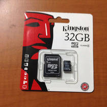Memoria Micro Sd Kingston 32gb C/adaptador C4