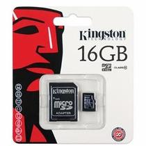 Micro Sdhc 16gb Con Adaptador Sd Cl10 Kingston