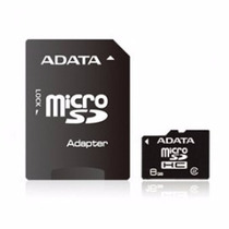 Memoria Micro Sdhc Adata 8 Gb C/adaptador Cl4