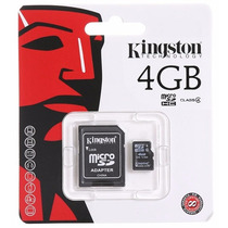 Memorias Microsd 4gb Kignston Mejoramos $ Apartir 100 Piezas