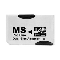 Neon Microsd Al Adaptador De Ranura Duo Dual Memory Stick Pr