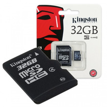 Memoria Microsd 32gb Kingston C/adaptador Sd - Original - C4