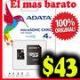 Micro Sd 4gb Adata Nueva Y Original $43