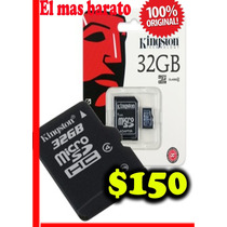 Memoria Microsd32 Kingston Clase4 $150 El Mas Barato