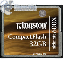 Kingston Memoria Compact Flash 32gb 600x Ultimate Cf/32gb-u3
