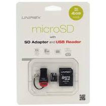 Micro Sd 4 Gb + Adaptador Sd + Lector Nuevas Baratísimas!