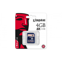 Tarjeta Sd Hc Memoria 4gb Clase 4 Kingston Camaras Digitales