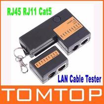 Probador Tester Mini Rj45 Rj11 Cat5 Network Lan Cable 9 Leds