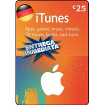 Tarjeta Gift Card Itunes Alemania 25 Euros Ipod Ipad Iphone