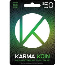 Tarjeta Gift Card Karma Koin 50 Usd Juegos Y Musica En Linea