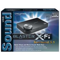 Creative® X-fi Tarjeta De Sonido Usb 5.1 Ch Control Remoto