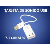 Tarjeta De Sonido Usb 2.0 3d Virtual 7.1 Canales De Audio