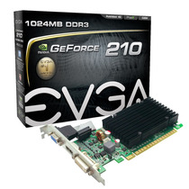 Tarjeta De Video Evga G210 1gb Ddr3 Pci-e 2 Dvi-i Hdmi Vga