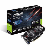 Tarjeta De Video Asus Gtx750ti 2gb/oc/ddr5/128b/vga/dvi/hdmi
