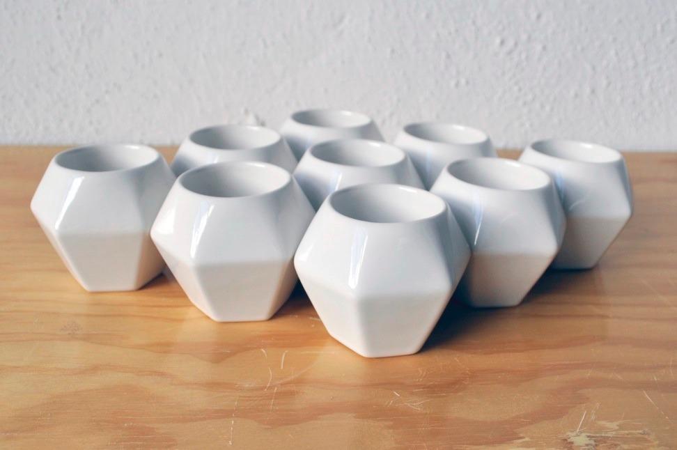 Taza de ceramica para caf espresso modelo diamante blanco for Tazas para cafe espresso