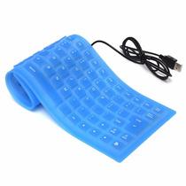 Teclado Alambrico Flexible Usb Pc Laptop Contra Agua Polvo