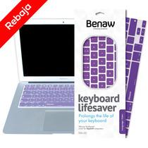 Protector De Teclado Inglés Keyboard Lifesaver Morado 11¨