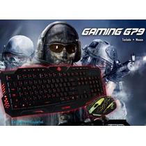 Kit Gaming Teclado Y Mouse Gamer Con Luz Eagle Warrior Usb