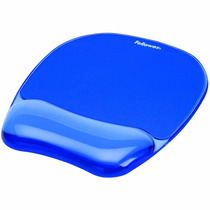 Fellowes Gel Crystal Mousepad / Del Resto De Muñeca, Azul (9