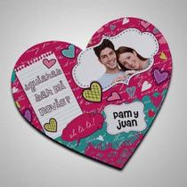 Mouse Pad Corazon Personalizado Con La Imagen Que Tu Quieras