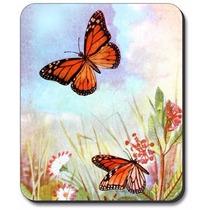 Mariposas Y Flores Alfombrilla De Ratón - Por Arte Plates®