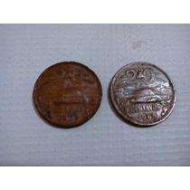 Dos Monedas De 20 Centavos 1969 Y 1973