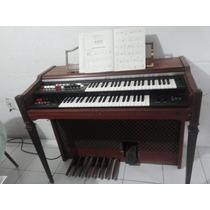 Organo Yamaha Funcionando Color Madera Caja De Ritmos