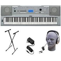 Paquete Piano Yamaha Dgx230 76-key Digital Con El Soporte, F